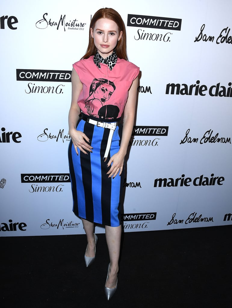 Wearing head-to-toe Prada at Marie Claire's Fresh Faces event in 2018.
