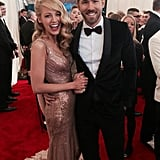 Blake Lively and Ryan Reynolds posed perfectly on the carpet. Source: Twitter uservoguemagazine