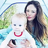"""Lindsay Price and Hudson's """"first trip ever to Target resulted in the best 12.99 ever spent"""" — a tent!"""