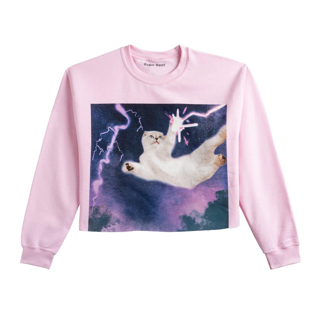 577e6b926f0 Taylor Swift Pink Cropped Sweatshirt