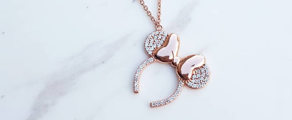 Disney Rose Gold Minnie Ears Necklace