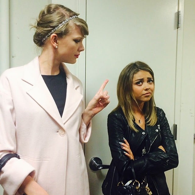 Taylor Swift played Mom and scolded Sarah Hyland. Source: Instagram user therealsarahhyland