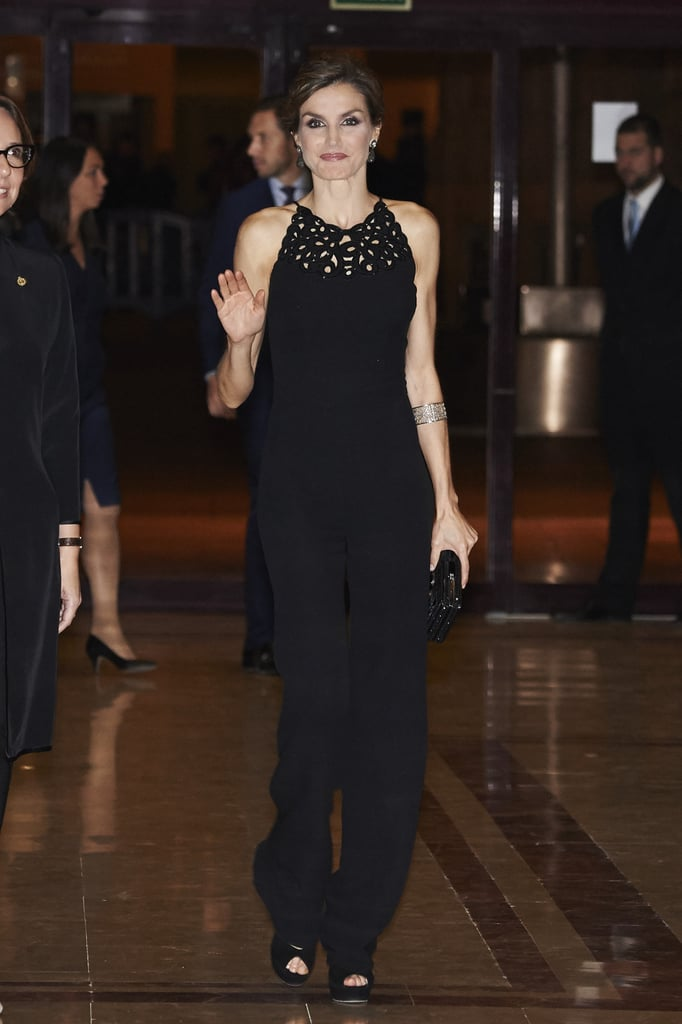 Queen Letizia of Spain's Black Jumpsuit