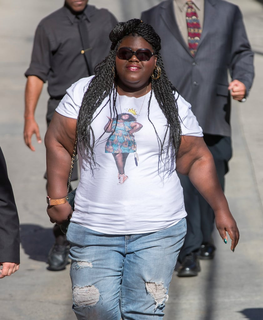 Gabourey Sidibe Wearing a T-Shirt With Her Face on It 2017 ...