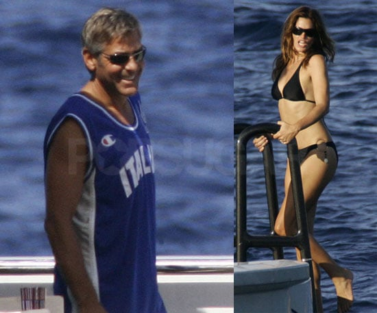 Photos of Cindy Crawford In a Bikini on Yacht With George Clooney, Rande Gerber