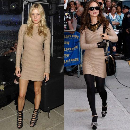 Chloe Sevigny and Eliza Dushku Wear The Same Nude Kimberly Ovitz Dress 2009-10-07 13:00:22