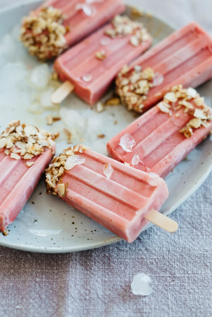 Raspberry-Tomato Yogurt Pops