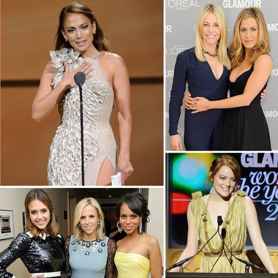 Jennifer Aniston, J Lo, Emma Stone, and More Honor 2011's Women With Glamour