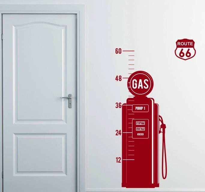 Vintage Gas Pump Growth Chart
