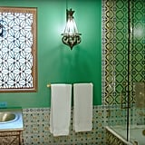 Cara's bathroom has the chicest Moroccan vibe — zoom in on those gorgeous tiles!
