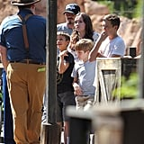David Beckham hung with his sons at Disneyland.