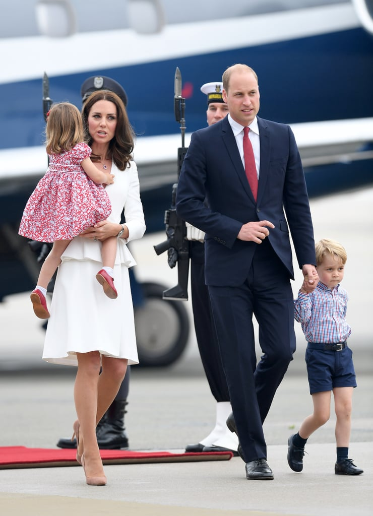 3acc8c97cbfeb The British Royal Family Arriving in Poland July 2017 | POPSUGAR ...