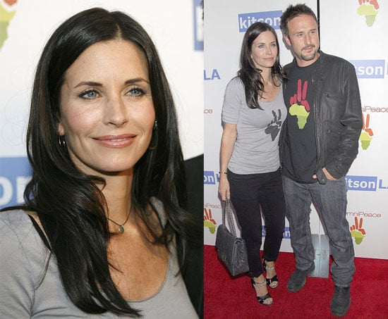 Courteney & David Proudly Sport Their Philanthropy