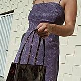 UO Sparkly Moon Beam Empire Waist Mini Dress