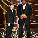 Pictured: Jacob Tremblay and Abraham Attah