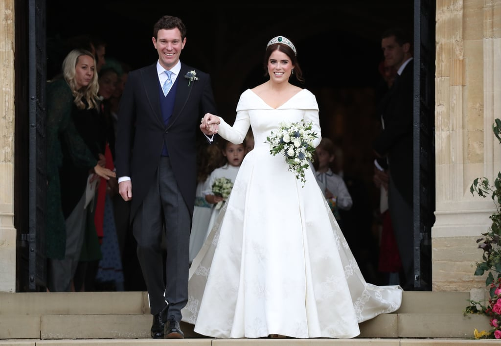 """It's been a little less than a month since Princess Eugenie and Jack Brooksbank tied the knot at Windsor Castle's St. George's Chapel, and just like Prince Harry and Meghan Markle did before them, the couple have now sent their wedding thank you notes. According to the Instagram account Royal Letters, the letter features a photo of the couple from their wedding day along with a sweet, handwritten note from Eugenie. """"Thank you from the bottom of our hearts for making our wedding so special and for thinking of us as we start our married life. We are completely overwhelmed with happiness."""" The gorgeous snapshot — which features Eugenie, Jack, and their bridal party — is one of the now iconic official wedding portraits the couple took after the ceremony. They were all taken at Windsor Castle by photographer Alex Bramall, and include a few sweet moments among the royal family, as well as a few private moments between Eugenie and Jack which made the whole world swoon. See the royal couple's thank you note below, and read on for more photos of their big day.       Related:                                                                                                           Princess Eugenie's Wedding Was a Lot Less Expensive Than Her Cousin Prince Harry's"""