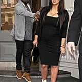 Kim Kardashian and Kanye West left the Isabel Marant store in NYC.