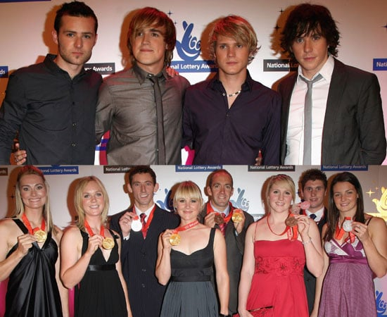 Photos Of British Olympic Medal Winners and McFly At National Lottery Awards