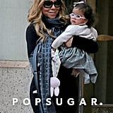 Monroe Cannon sported pink glasses while she was out with Mariah Carey.
