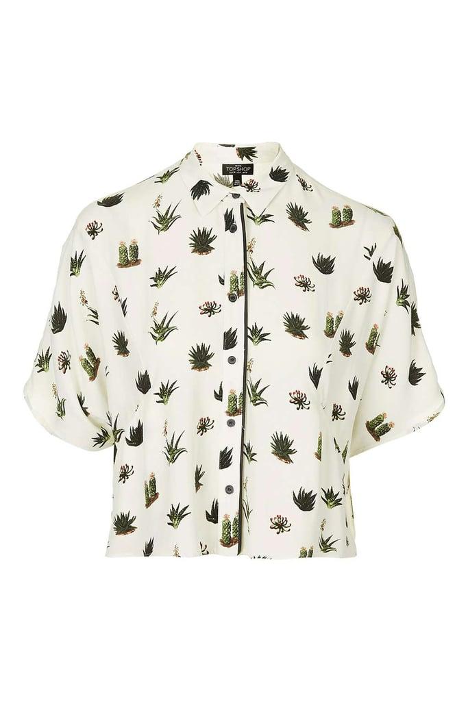 Topshop cactus pyjama style blouse ($52)