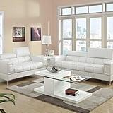 Poundex Sierra Bonded Leather 2 Piece Sofa Set