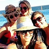 Nina Dobrev took a picture with friends during a sunny vacation. Source: Nina Dobrev on WhoSay