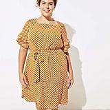 LOFT Plus Petal Dot Bell Cuff Dress