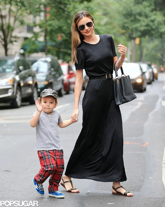 Miranda Kerr went to lunch with her adorable son, Flynn, in NYC following a successful return to the runway during Paris Fashion Week.