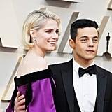 Rami Malek and Lucy Boynton at the Oscars 2019