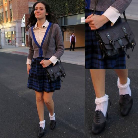 Emmy Rossum in Schoolgirl Outfit