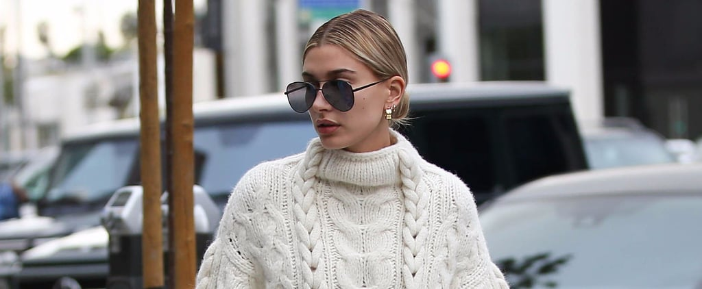 Hailey Baldwin Wore the Most Unexpected Pair of Pants With Her Fall Sweater