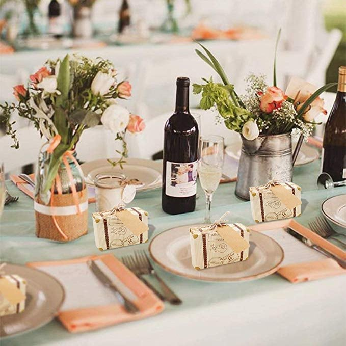 Mini Suitcase Favor Boxes | Best Wedding Favors From