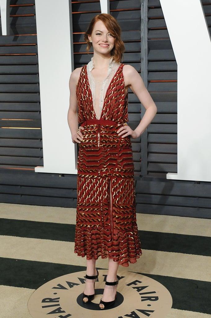 Emma Stone at the 2015 Vanity Fair Oscar Party