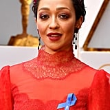 Ruth Negga Wears a Blue Ribbon in Solidarity With the ACLU