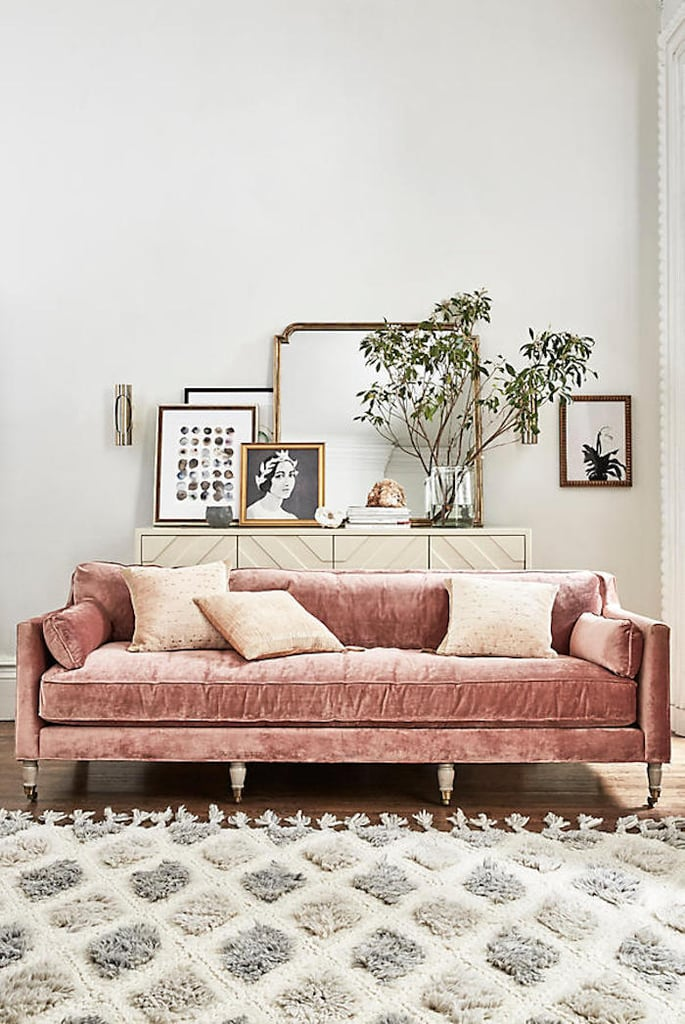 High Quality Anthropologie Slub Velvet Leonelle Sofa