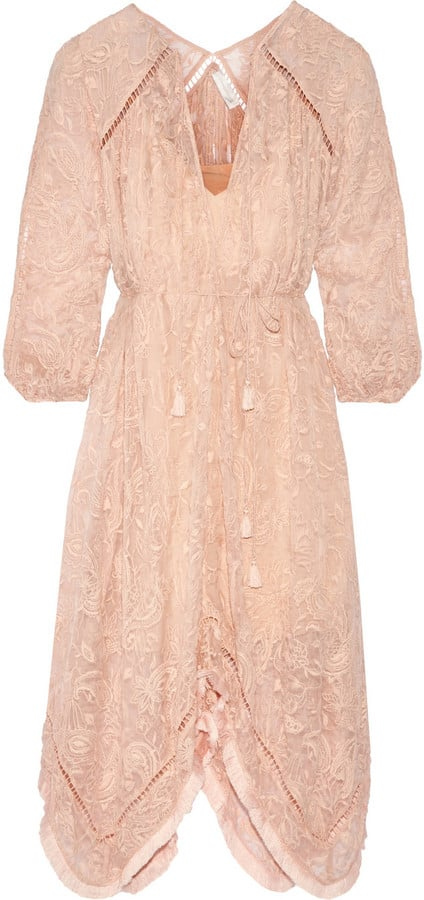Zimmermann Henna Asymmetric Embroidered Silk Dress ($850)
