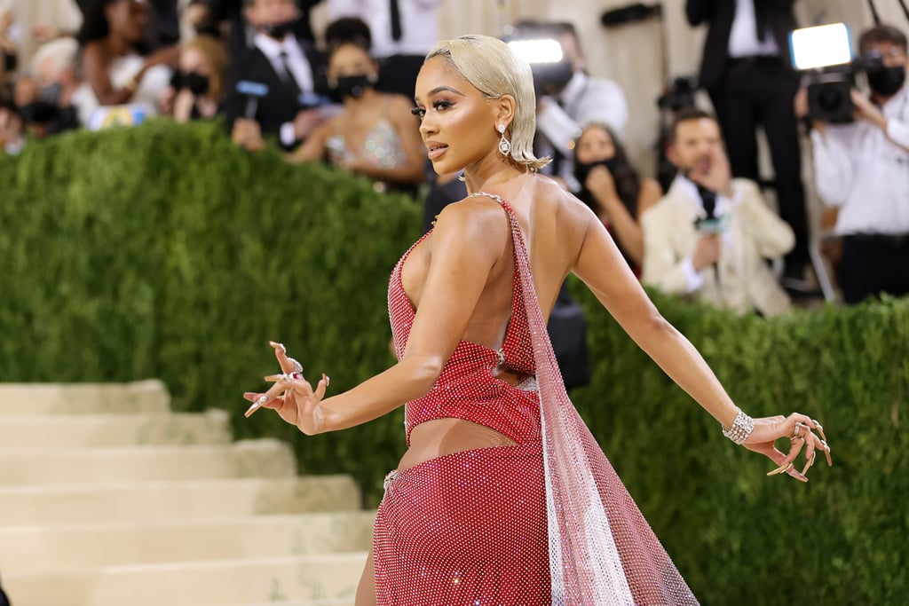 Saweetie's Flipped-Out Bob Hairstyle at the 2021 Met Gala