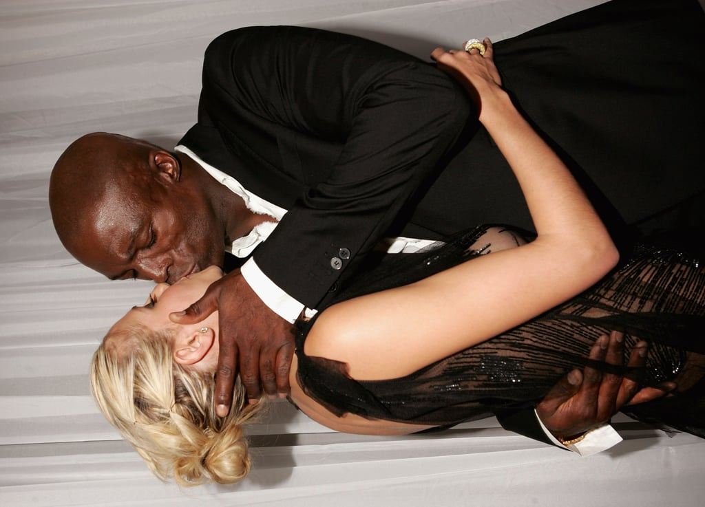Seal and Heidi smooch at the 2004 World Music Awards.