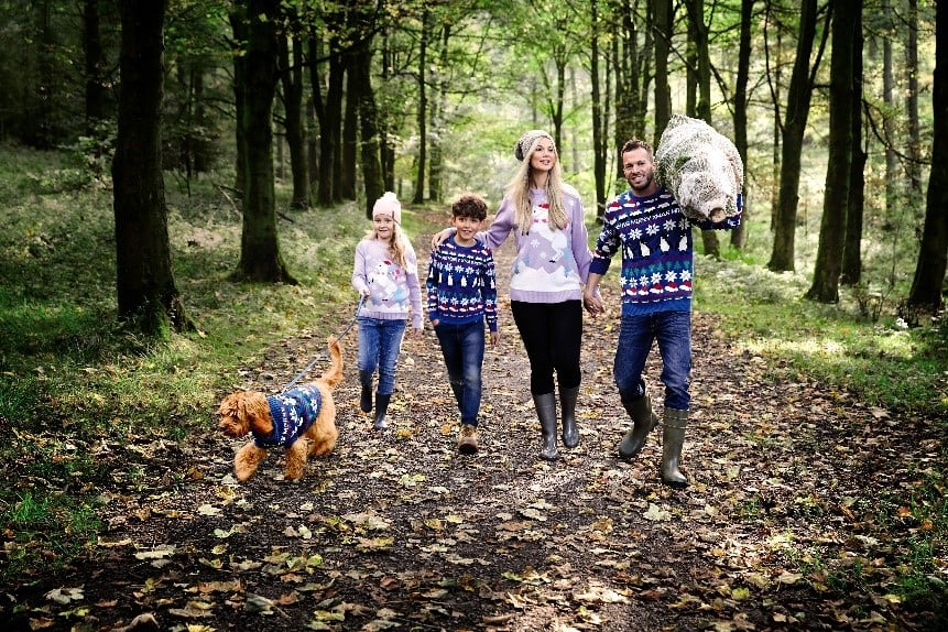 Never mind trying to look as fashionable as possible in your Christmas jumper, or winning the office competition with the most ugly knit you can find this year. Dictated by Aldi, the trend of the season is to not only match your family, but your pets, too. The supermarket giant responsible for our favourite £4 skincare find will be helping families across the UK achieve just this with a selection of festive sweaters and t-shirts for men, women, children — and pooches. How's that for some Christmas coordination? From Husky to Harrier, shoppers will be able to kit out the entire family, furry or otherwise, for just over £30. Read on to see all the knits available — wait till you see the unicorn jumpers!      Related:                                                                                                           8 Things You Don't Know About Aldi, Straight From an Insider Employee