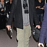 Bradley Cooper arrived at the airport in Japan.