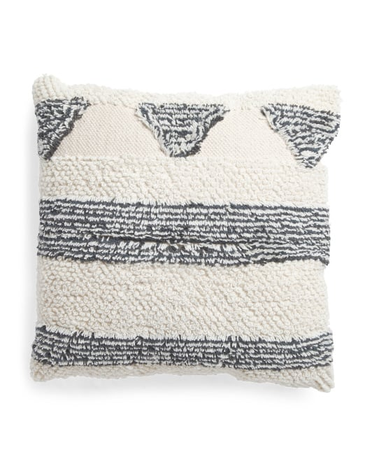 Made in India Oversized Shag Pillow