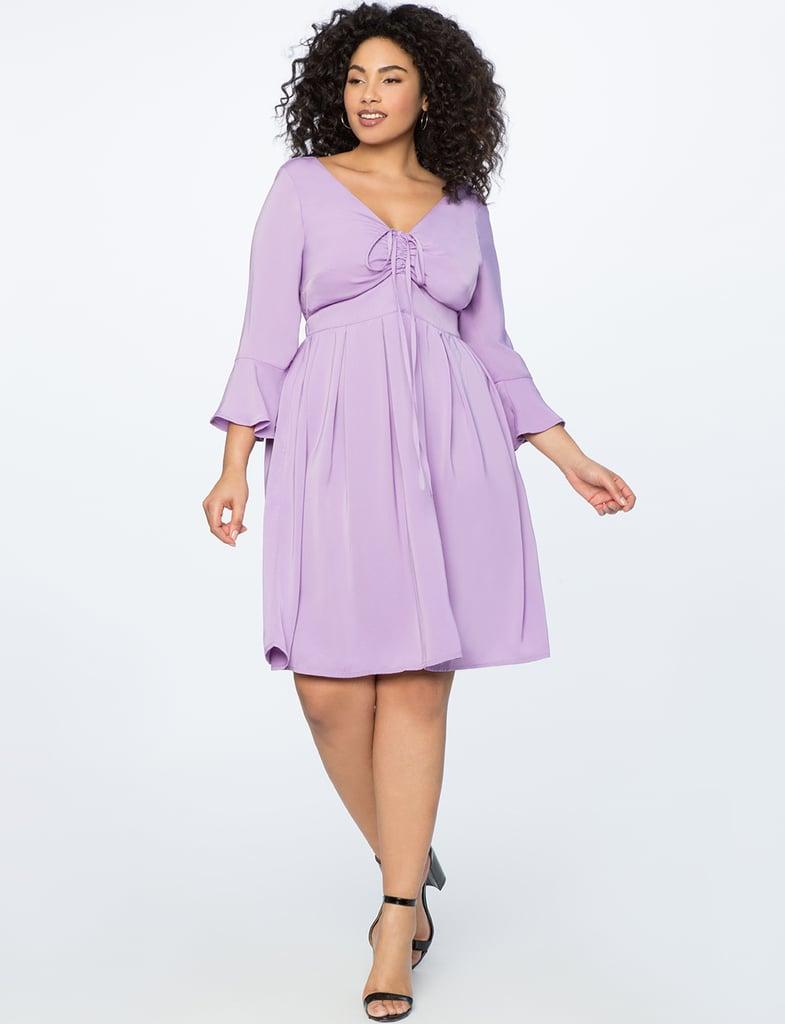 Eloquii Flare Sleeve Dress