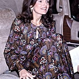 Jackie Kennedy on Her Way to the Metropolitan Opera House Royal Ballet in 1974