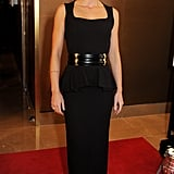 Emily Blunt wore a black gown.