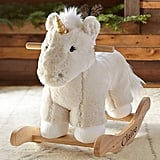 Nursery Unicorn Faux Fur Plush Rocker
