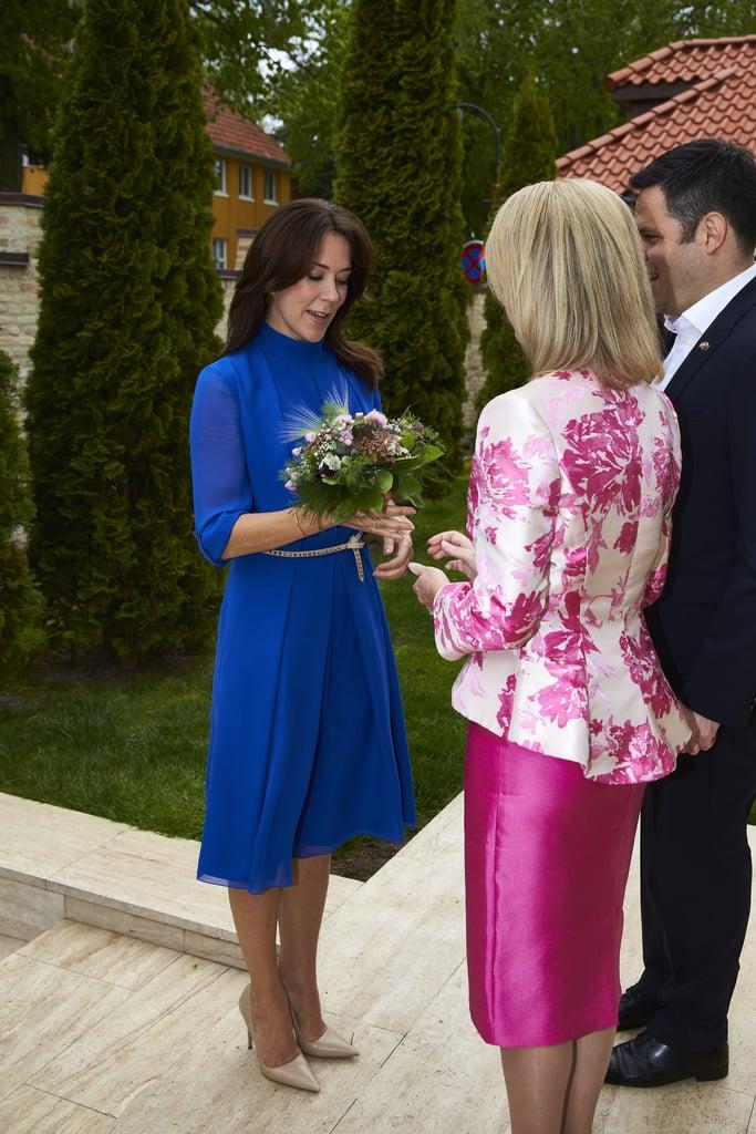 Princess Mary Wearing a Blue Dress May 2016