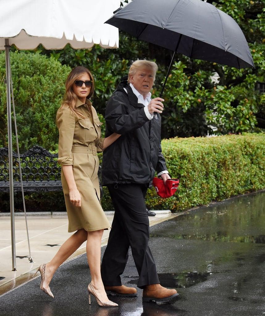 Melania Trump Snakeskin Heels For Visit to Texas