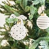 Cream & Black Mini Glass Ornaments