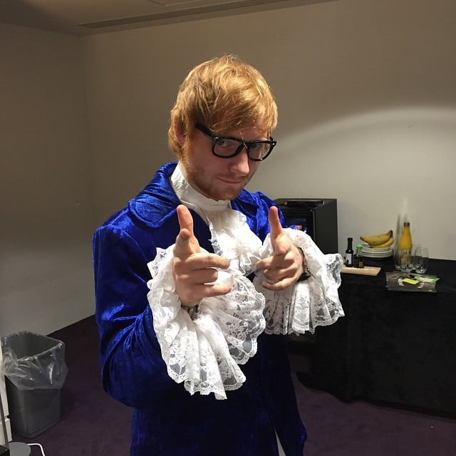 Ed Sheeran perfected the Austin Powers look in 2014.