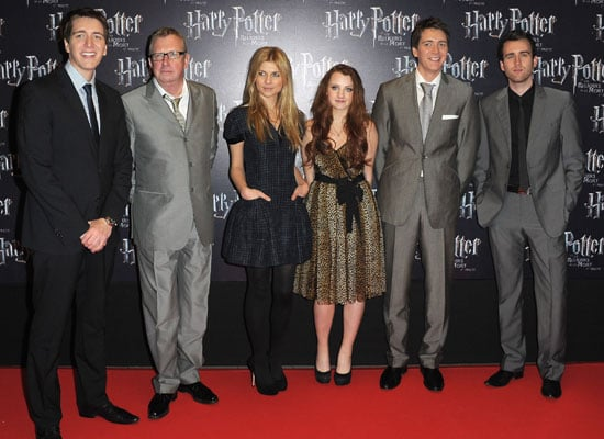 Evanna Lynch, Clemence Poesy, Oliver and James Phelps at Harry Potter and the Deathly Hallows France Premiere